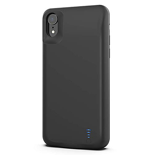 Battery Case for iPhone XR, Tsmile 8000mAh Portable Protective Powerful Charging Case Slim Fingerprint Resistant Charger Case Extended Battery for iPhone XR (6.1Inch)