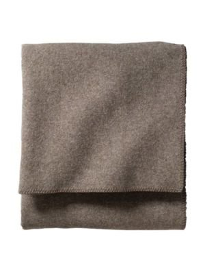 [Pendleton Eco-Wise Easy Care Blanket, Twin, Fawn Heather] (Wool Washable Blanket)