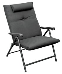 Prime Products 13-3378 Baja Black Prime Plus Folding Chair (Patio Folding Padded Chairs)
