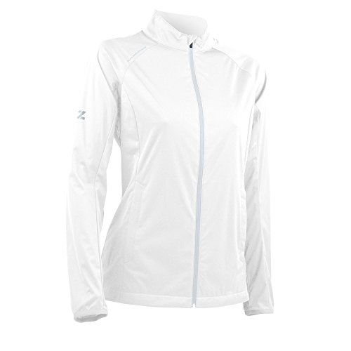 Sun Mountain Women's Zephyr LT Jacket - White-Platinum (Sun Mountain White Jacket)