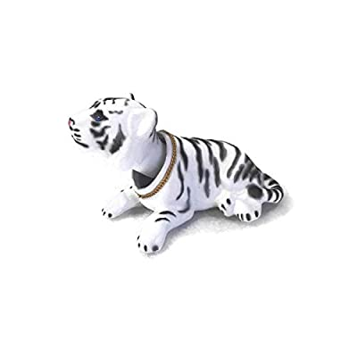 Batty Bargains Ferocious Bobblehead White Tiger with Auto Dashboard Adhesive: Toys & Games