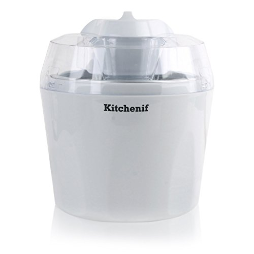 Kitchenif Ice Cream, Sorbet, Slush & Frozen Yoghurt Maker Capacity 1.5 Liters (White)