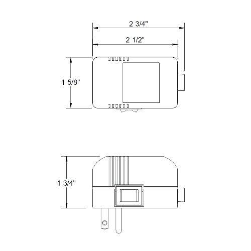 WAC Lighting EN-1260-P-AR-BK Electronic Transformer, 120V - 12V 60W Max, Black by WAC Lighting (Image #1)'