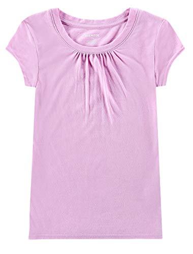 Bienzoe Girl's School Uniform Anti-Microbial Breathable Quick-Dry Short Sleeve Crew Neck T-Shirt PackC 6/6X by Bienzoe (Image #3)