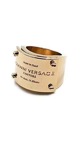 Gianni Versace Couture Engraved Golden RARE Pinky - For Women Versace Rings