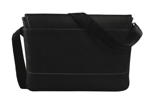 "be.ez LE reporter Roppongi Avenue 11"" Messenger case Black - notebook cases (27.9 cm (11""), Messenger case, Black, Canvas, PVC, Monotone, Water resistant)"
