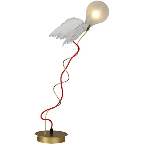 LED ala de la Cama alas de ángel Personalidad Libro Dormitorio Arte lámpara de Mesa G4