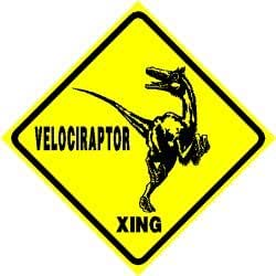 USD20 Amazon Gift Card Wedding Registry : Amazon.com: VELOCIRAPTOR CROSSING sign street dinosaurs: Home ...