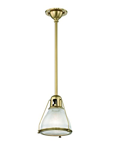 Hudson Valley Lighting One Light Pendant Hudson Valley 7308-Agb Restoration Haverhill Collection in Brass-Antiquefinish, 8