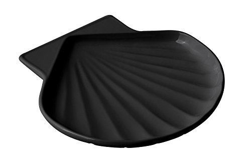 "UPC 804476060366, Bon Chef 5044BLK Aluminum Fish Shell Dish, Size 8"", Black (Pack of 6)"