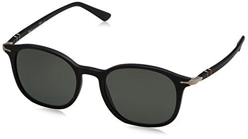 Persol Mens Sunglasses Black Matte/Green Plastic - Polarized - - Persol Sunglasses Matte Black