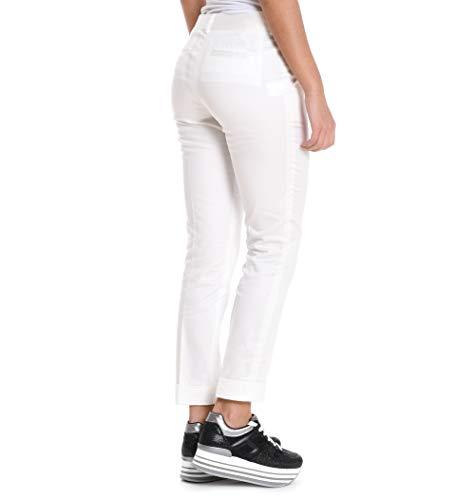 Mujer Pantalón Blanco Meme 3322papavero03 Algodon vP1dqd