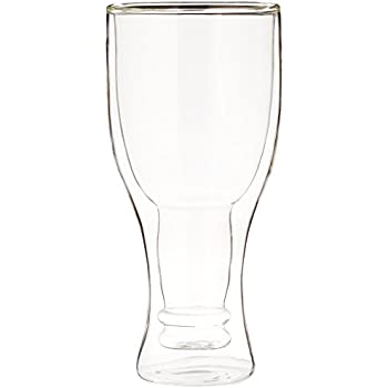 Fairly Odd Novelties Upside Down Beer Double Wall Glass Bottle Mug, Get Your Hops Upside Down!