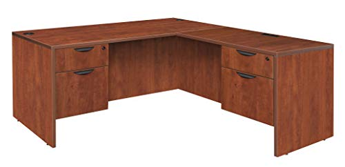 (Regency Legacy 60-inch Double Pedestal L-Desk with 35-inch Return- Cherry)