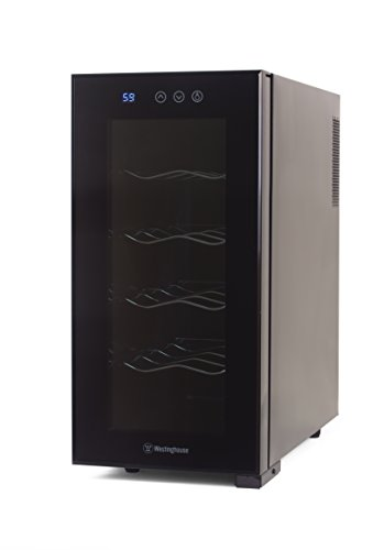 Westinghouse WWT100TB Thermal Electric 10 Bottle Wine Cellar with Touch Panel Adjustable Thermostat and Digital Read Out, Black