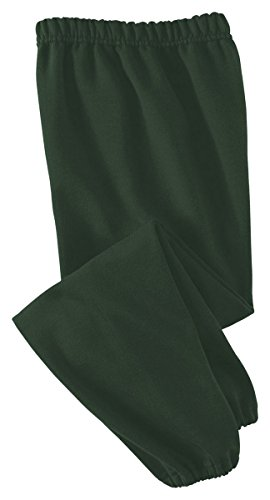 Jerzees Youth 8 oz., 50/50 NuBlend Sweatpants, Large, FOREST