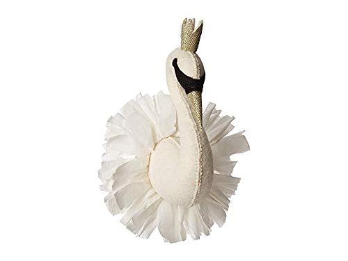 Mud Pie Women's Mini Swan Wall Mount White One - Wall Swan