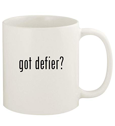got defier? - 11oz Ceramic White Coffee Mug Cup, White (K Swiss Defier Rs Mens Tennis Shoes)