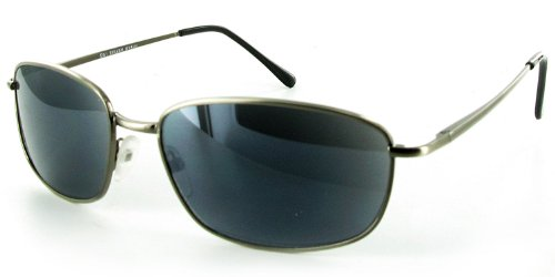 Seagulls Metal Frame Full Reading Sunglasses (Not a Bifocal) for Youthful and Active Men and Women (Gunmetal +1.50)
