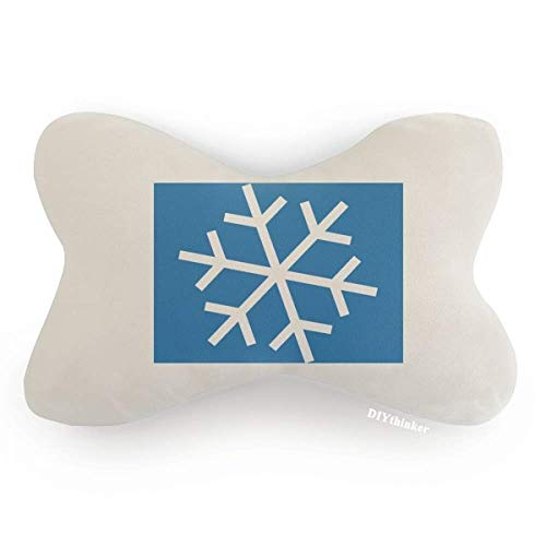 DIYthinker Winter Sport Snowflake Blue Silhouette Car Neck Pillow Headrest Support Cushion Pad
