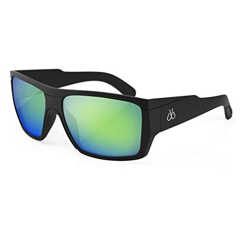 (Filthy Anglers Webster Fishing Sunglasses, Matte Black, Polarized EP Green Mirror Lenses)