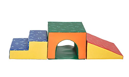 Soft Play Climber (ECR4Kids Softzone Single Tunnel Foam Play Climber, Primary)