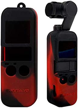 Color : Red Non-Slip Dust-Proof Cover Silicone Sleeve for DJI OSMO Pocket Durable