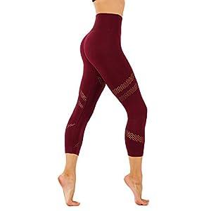 e73b4c07c86b7 CodeFit Yoga Power Flex Dry-Fit Latest Fade Dye Active Capri Mesh  Compression Pants Workout Leggings