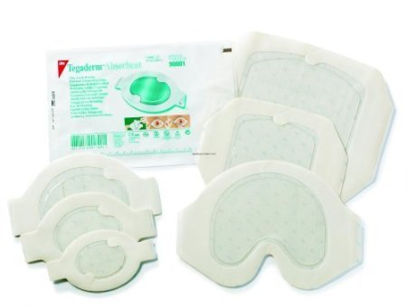 3M Tegaderm Absorbent Clear Acrylic Dressing Part No. 90802 3M HEALTHCARE