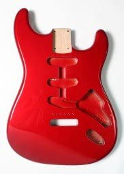 Göldo Body US Red Alder Rojo Aliso Candy Apple Red Cuerpo Guitarra ...