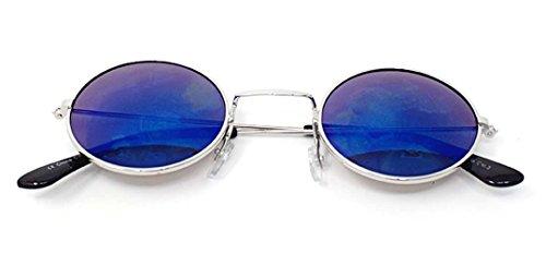 UV400 Con Lennon Retro Lentes Style Rondes Unisexe Soleil Silver Qualité de Elton Petit Adultes Classique Femmes Revo Lunettes John Blue Vintage Hommes wUAqng