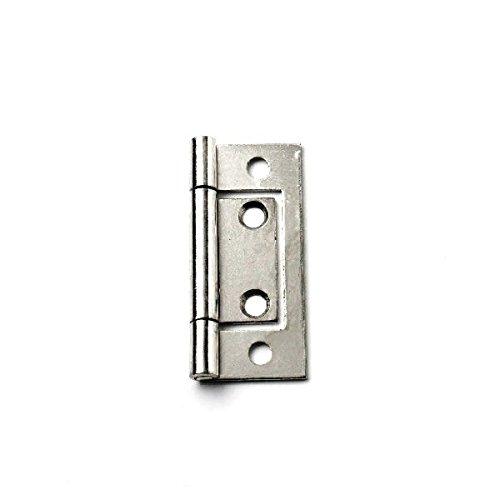 (Bulk Hardware BH03826 Bright Zinc Plated Flush Door Cupboard Hinge, 50 mm (2 inch) - Pack of 2)