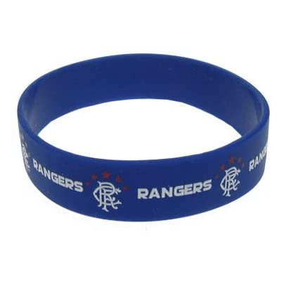 Rangers F C Silicone Wristband- silicone rubber wristband- one size fits all- approx 7cm diameter- header card- official licensed product Estimated Price £3.33 -