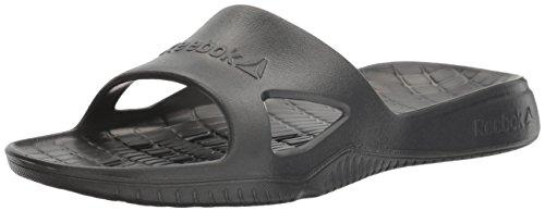 Reebok Women's Kobo H2OUT Slide Sandal, Coal, 10 M US