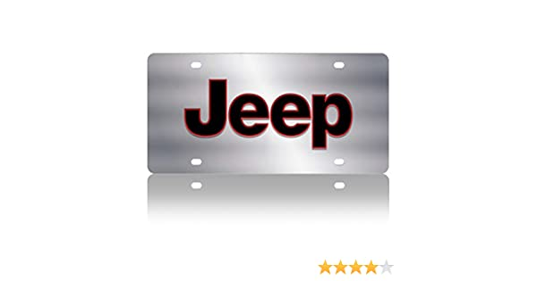 Jeep Word Compatible with Carbon Steel License Plate Eurosport Daytona