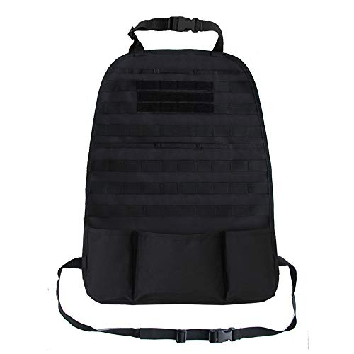 Tactical Expedition Car Vehicle Seat Back MOLLE Organizer Airsoft Paintball Temporary Armed Depot Universal Seat Storage Cover