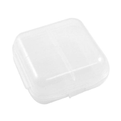 Double Sides Clear Mini Plastic Medicine Drug Pill Box