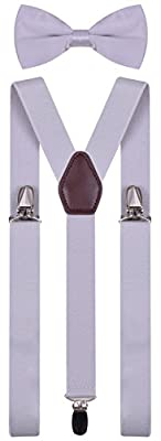 Bow Ties and Suspenders for Men Women Kids Boys Adjustable Shoulder Strap Braces