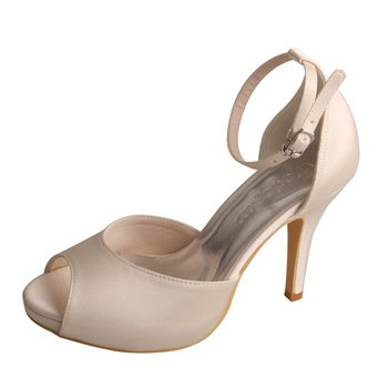 Wedopus MW740 Women s Peep Toe High Heel Platform Satin Ankle Strap D Orsay Wedding  Bridal 780d035e8253