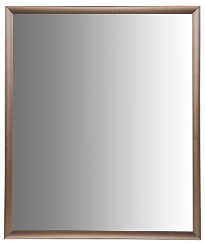 Nielsen Bainbridge 24x30 Rectangular Aluminum Wall Mirror | Vanity Mirror, Bedroom or Bathroom | Hangs Horizontal or Vertical | Brushed Bronze