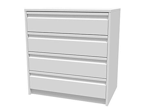 Meka-Block K-7403B - Schubladenschrank-Kit, 4 Schubladen, 70 cm breit, Farbe: weiß.