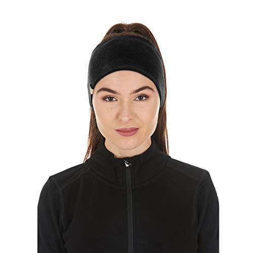 Minus33 Merino Wool Clothing Unisex Midweight Wool Reversible Headband, Black, One Size