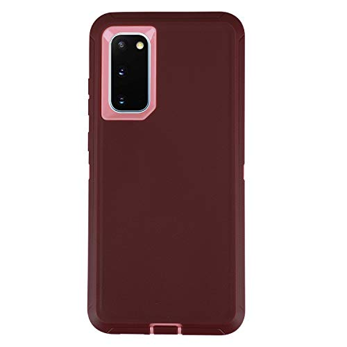 smartelf for Galaxy S20 Case,Shockproof Full Body Heavy Duty Case, Rugged Cover Drop-Proof Protective Tough Shell for Samsung Galaxy S20 5G-Dark Purple/Light Pink