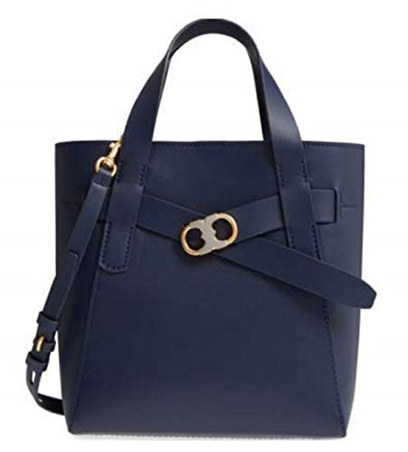 c2815d4a2ae Tory Burch Gemini Link Leather Small Tote-Royal Navy from Tory Burch
