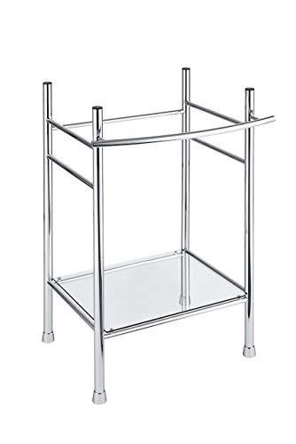 American Standard 8719000.002 Edgemere Console Table Legs, Chrome (Renewed) (American Standard Glass Shelf)