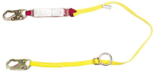 (MSA 10088213 Sure-Stop Web Energy-Absorbing Lanyard with 36C Harness Connection and 36C Anchorage Connection, Tie-Back Fixed Single-Leg, 6' Length)