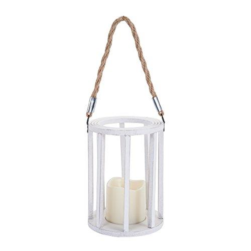 Elements LED Lantern Off White, 7.5-Inch