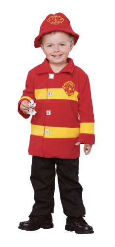 Firefighter Halloween Costumes Toddler (Brave Firefighter Toddler Costume)