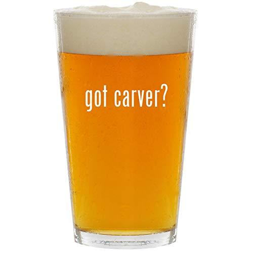got carver? - Glass 16oz Beer Pint (Bearfoots Moose)