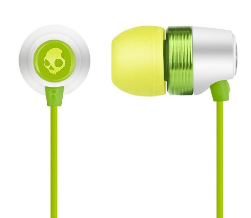 Skullcandy Riot Earbuds White/Green/Yellow Sz 11mm